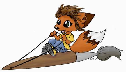 Fox-Artists Mascot by ChickenfoxStudios