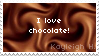 I Love Chocolate Stamp by KoRn-sTaR60291