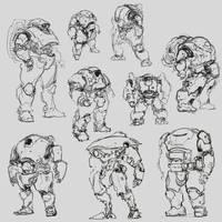 sketches for my portfolio by ProgV