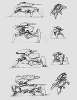 sketches - main battle robot 2 by ProgV