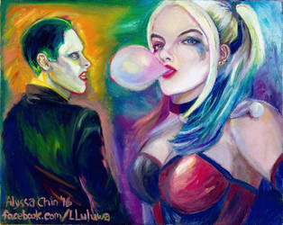 SS ver. Joker and Harley by lluluwa