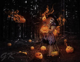 Pumpkin girl by Makrmaniak