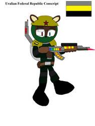 Uralian Soldier Concept. by JaredtheFox92