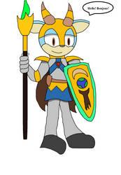Vashurian Spearman Warrior by JaredtheFox92
