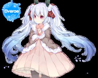 Hatsune Miku snow render by Elverae