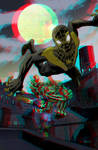 Spider-Man by Dan Panosian in 3D Anaglyph by xmancyclops
