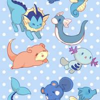 Water Pokemon Pattern by Konekocchi