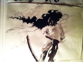 Afro Samurai ink by 326Kamechan