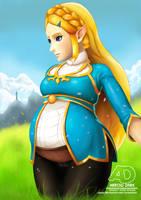 Pregnant Princess Zelda (Breath of the Wild) by ArrowDark