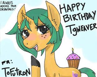 Happy Birthday Tgweaver by keichishoshuko