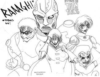Titans Go WIP by keichishoshuko