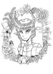 Horn girl by keichishoshuko
