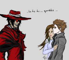 Twilight amuses Alucard by DevilWillPay10