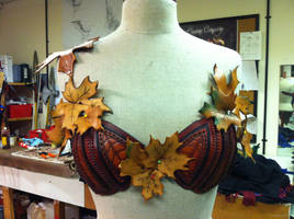 Fairy Bra Draft Mockup Front Leather amrour armor by RobynGoodfellow