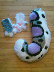 Snow Leopard Paws+Tail for Sale! (Ladder Options!) by TheFrozenPhoenix