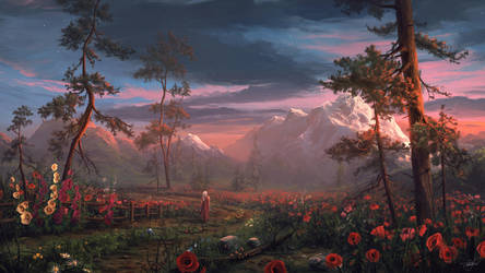 Poppy Field by ReFiend