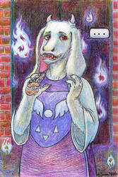 Toriel, the keeper of the Ruins by joan789