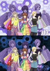 shopping girls in DBZ by DYKC