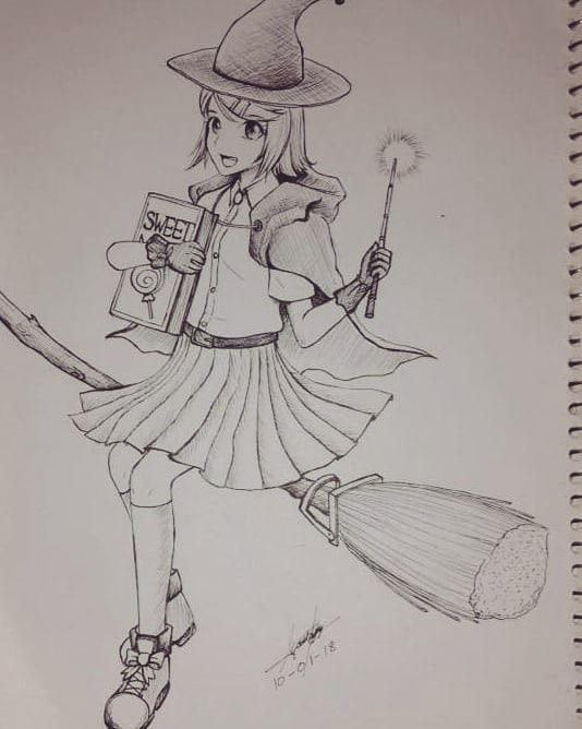 Apprentice Witch Rin-chan by Crowlake