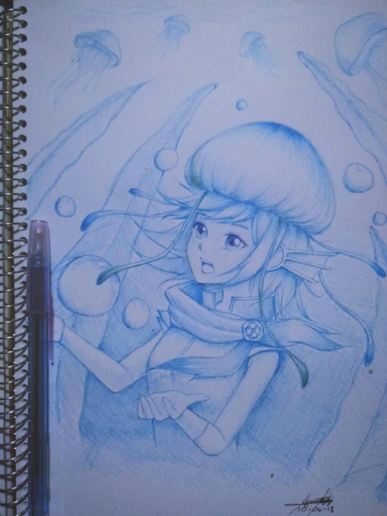Jellyfish Witch Aoki Lapis by Crowlake