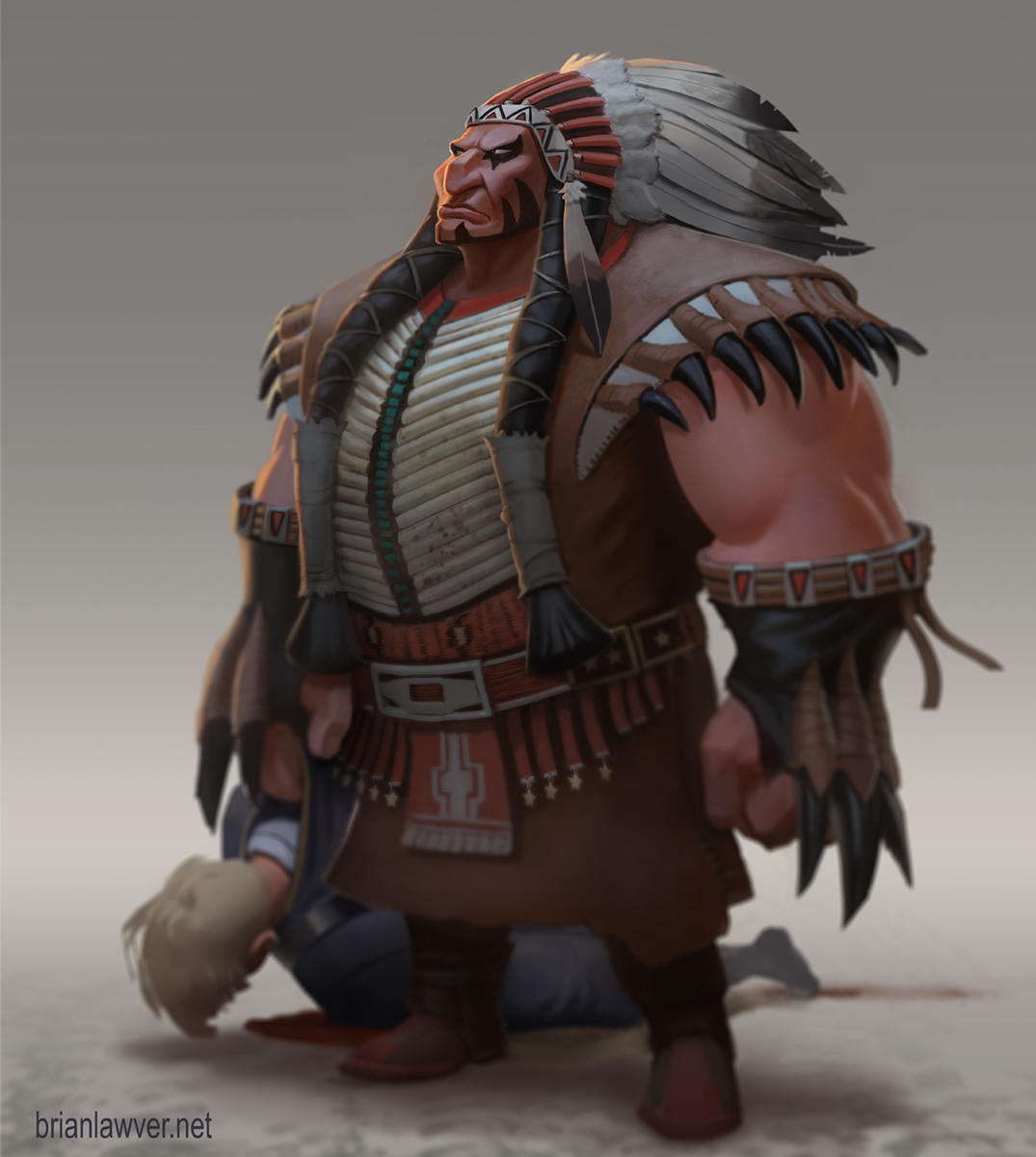 Tanka the Buffalo Chief by lawvalamp