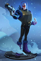 Mr. Freeze Statue Concept by lawvalamp