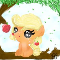 A Super-Ultra diabetic cute Baby AppleJack :3! by OceanHorse00