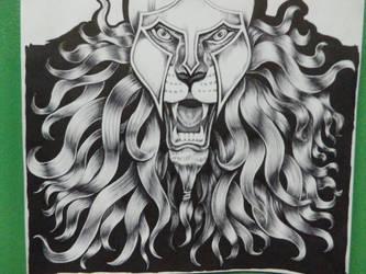 Lion warrior II by wizard-ank