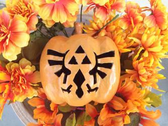 Zelda Carved Pumpkin by Xaveric