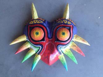 Straight Horns Woodgrain Majora's Mask by Xaveric
