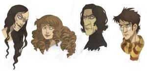 'Harry Potter' Portraits by kyla79