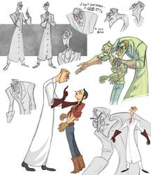 Evil Doctor Sketchdump by kyla79