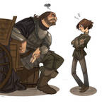 Arya and the Hound by kyla79