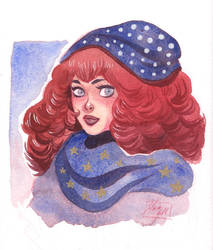 watercolor portrait by kyla79