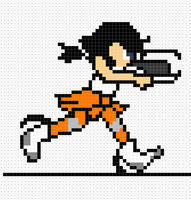Chell sprite by NuggetNoir