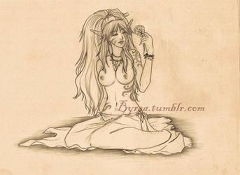 Zariet sketch wip by Byrsa