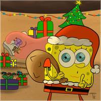 Spongebob Christmas by TornCookie