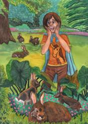 Garden of Bunnies by ChibiSunnie
