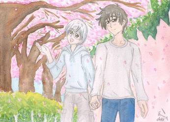 Cherry Blossom Stroll by ChibiSunnie