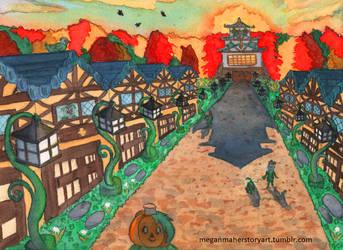 The Castle Town of Kabochamori by ChibiSunnie