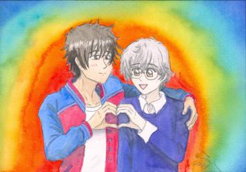 Pride Month Heart Hands by ChibiSunnie