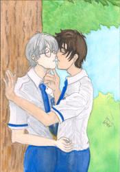 Touyuki Tree Kiss by ChibiSunnie