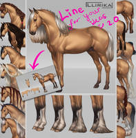 Line Spanish Horse (v2.0) [Open] by Llirika