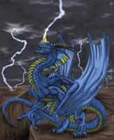 Blue Dragon by Sheranuva