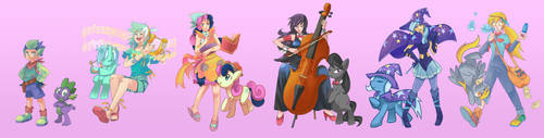 MLP-The Supporting Characters by Sapphire1010