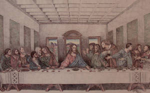 Last Supper BALLPOINT Pen by OMKDrawings