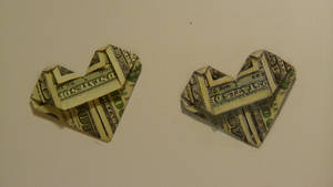 Realism Challenge #3 Dollar Bill Heart by OMKDrawings