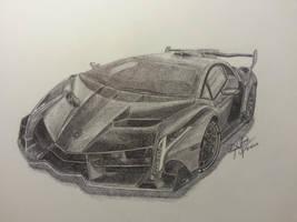 Lamborghini Veneno by OMKDrawings