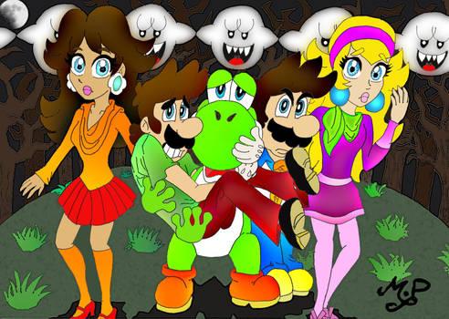 Scooby Doo-Mario style by Princesa-Daisy