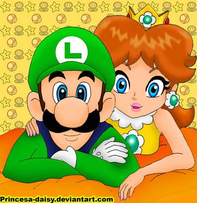 Luigi and Daisy 8-D by Princesa-Daisy